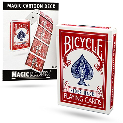 Magic Makers Magic Cartoon Deck Trick Bicycle Version from
