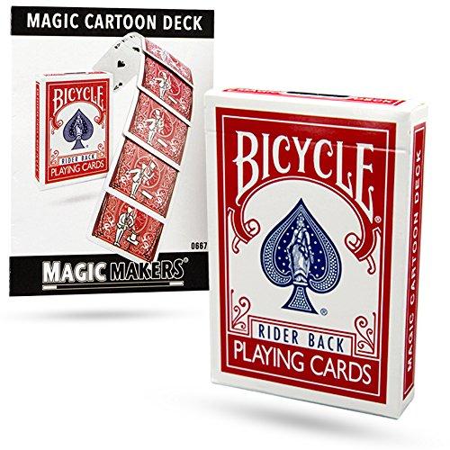 Magic Makers Magic Cartoon Deck Trick Bicycle Version from ()