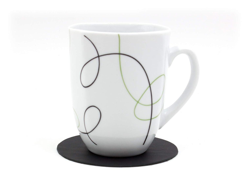 Tisch-Accessoire f/ür Alltag Schmutz Luxflair Glasuntersetzer 10er Set rund /Ø 10cm 100/% Leder Untersetzer zum Schutz vor Kratzern Gastronomie B/üro