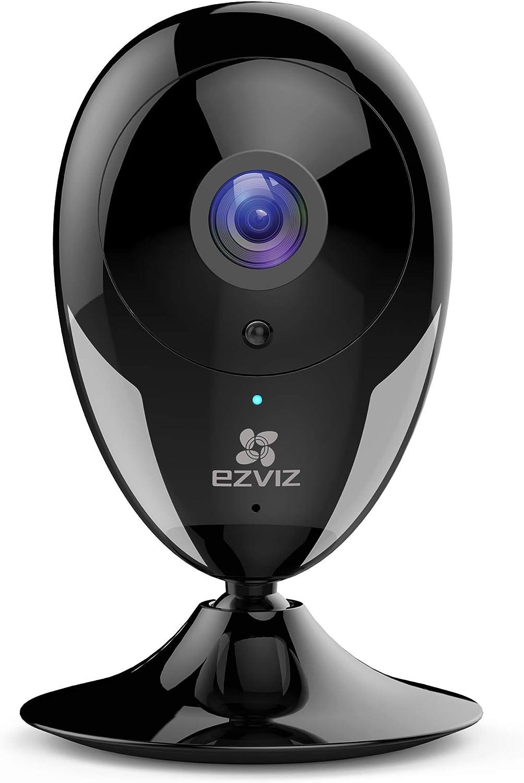 EZVIZ Indoor Security Camera 1080p FHD Motion Alert Night Vision Baby/Pet/Elder Monitoring 135° Wide Angle 2.4G Wi-Fi 2-Way Audio Smart Home IPC Works with Alexa Google IFTTT iOS Android App BK CTQ2C