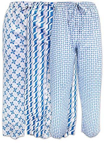 - AMERICAN HEAVEN Men's Lounge Pajama Sleep Pants/Drawstring & Pockets Designer Woven Pant Bottoms - 3 Pack (3 Pack- Geometrics 1, XXX-Large)