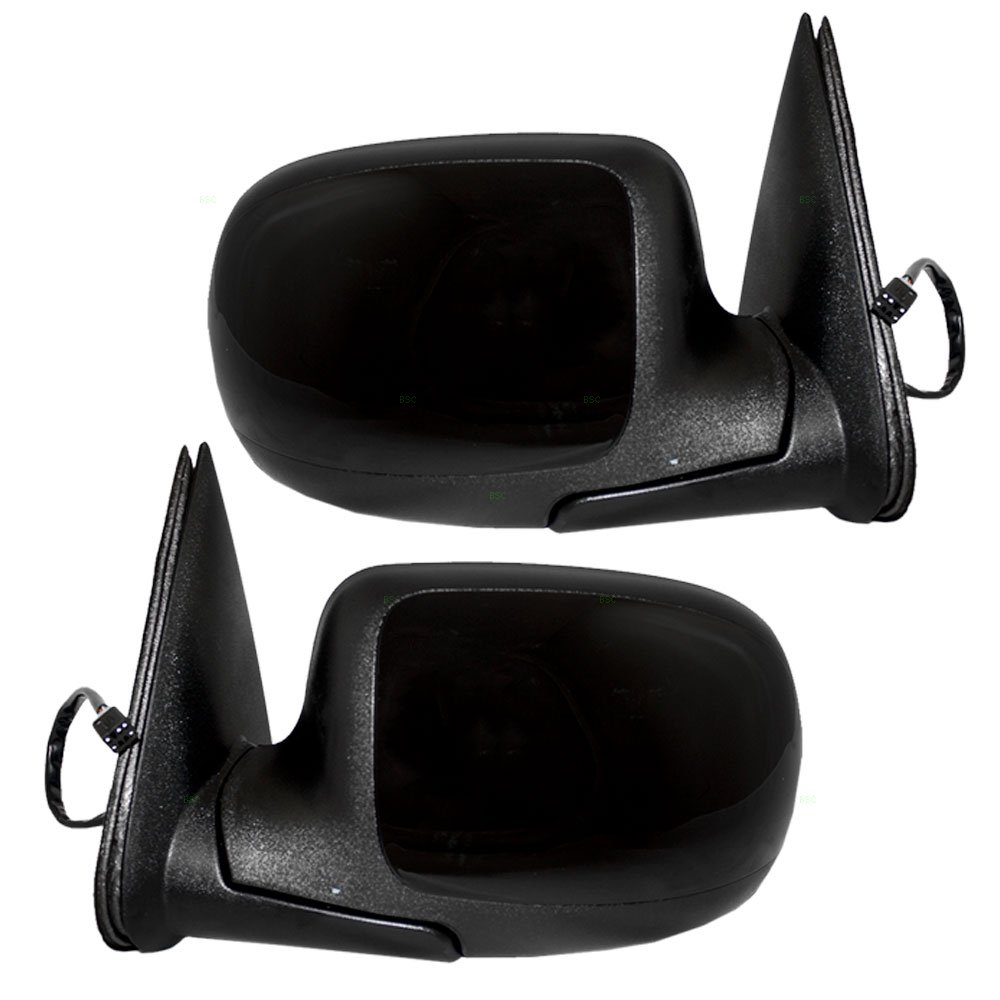Driver and Passenger Power Side View Mirrors Heated w//Gloss Caps Replacement for Cadillac Chevrolet GMC Pickup Truck 15179829 15179830