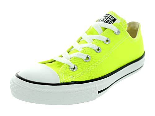 2b4fa1bb74ea Converse Kids Chuck Taylor Ox Basketball Shoes Electric Yellow 11 M US  Little Kid  Amazon.in  Shoes   Handbags