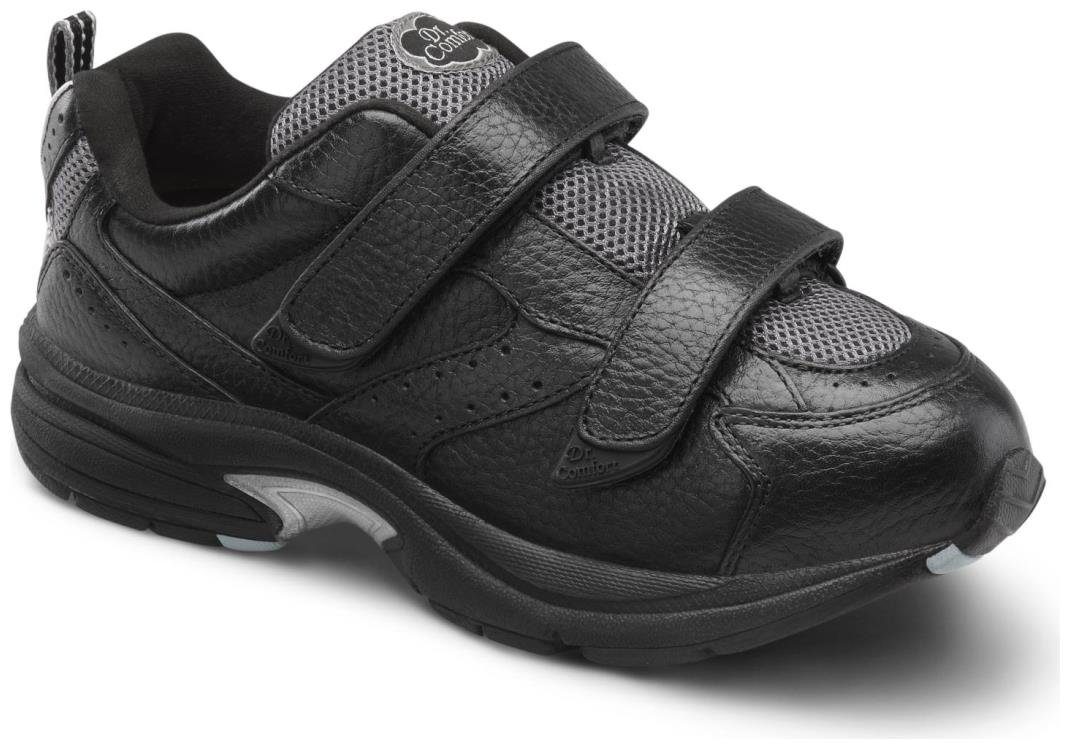 Dr. Comfort Spirit-X Women's Therapeutic Diabetic Extra Depth Shoe: Black 9.5 X-Wide (XW/4E) Velcro