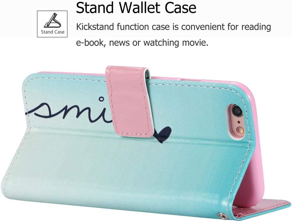 iPhone 5S Case 2 Card Slot iPhone 5 Case, QLIKER Premium PU Leather Wallet Case Protective Cover for Apple iPhone SE // 5S // 5 Magnetic Closure iPhone SE Case