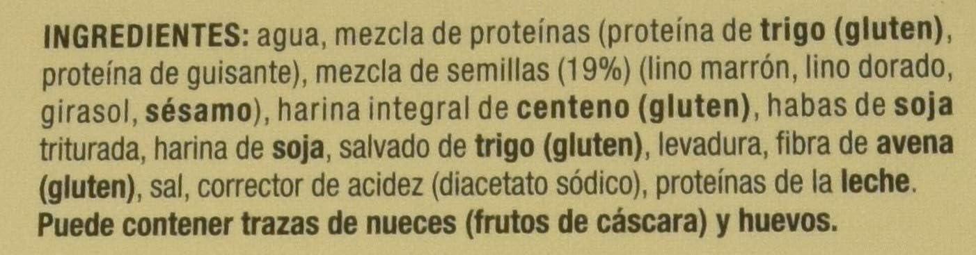 SIKEN Diet - Mini bread con semillas. 4 paquetes de 2 rebanadas de 24 g cada una. 63 Kcal/rebanada.