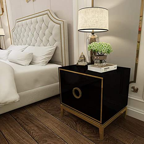 Yongfeng Mesita de noche - Dormitorio minimalista posmoderno ...