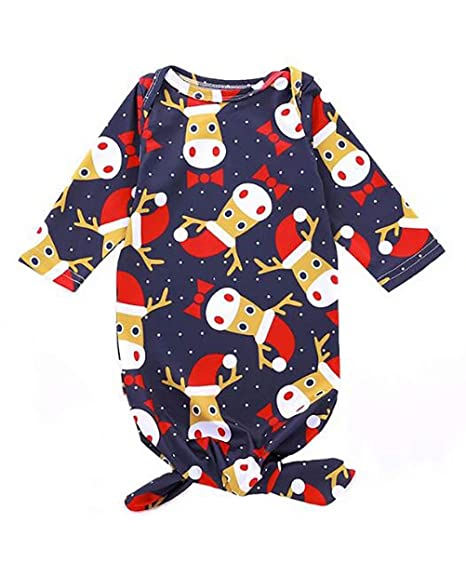80425900a Newborn Baby Cartoon Christmas Deer Sleep Gown Sleepwear Romper Sleeping  Bags Coming Home Outfit Size 0