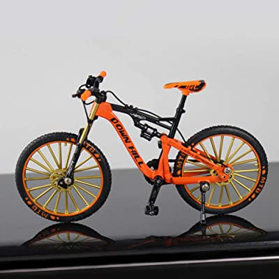 1:10 Zinc Alloy Bicycle Model, Desktop Decoration Ornaments Free Standing Miniature Finger Mountain Riding Bike Model Toy, Creative Gifts & Home Decorative Crafts: Kitchen & Dining