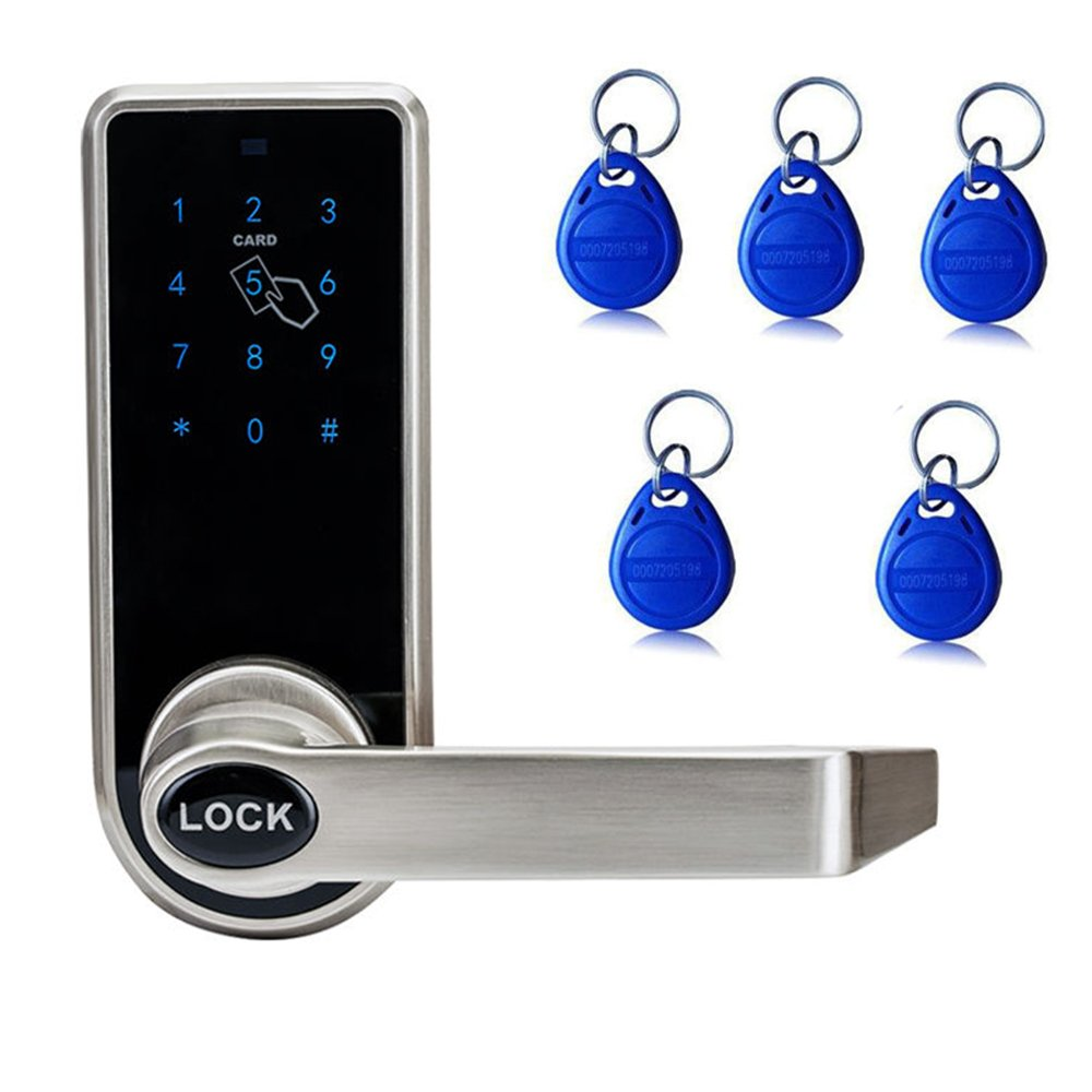 iMeshbean Digital Electronic Code Keyless Keypad Security Door Lock with 5pcs RFID Card Tags USA