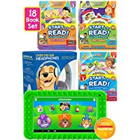 Little Scholar Start to Read Bundle - The Little Scholar Kids Educational Tablet with Kid-Safe Headphones and 18-Book Start-to-Read! bundle