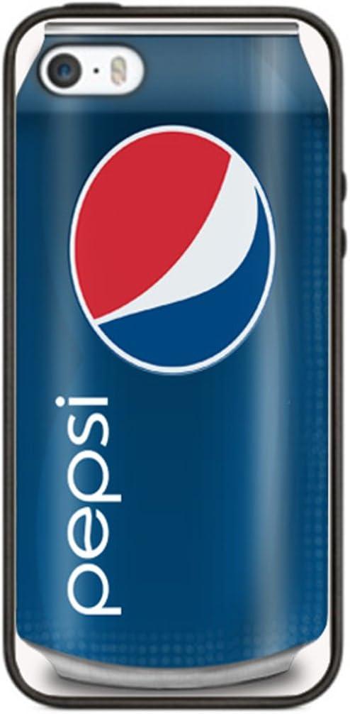 Pepsi Cola Funda para iphone 6 PS1 Border carcasa de silicona de goma negro @ pattayamart: Amazon.es: Jardín