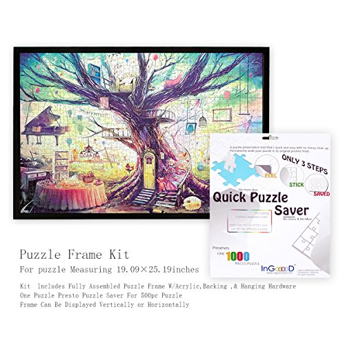 best Ingooood- Jigsaw Puzzle Frame Kit with puzzle saver - Made To ...