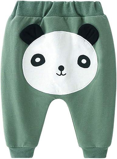 Shenye - Pantalones de algodón para bebé, para niños y niñas, Informales, con Cintura elástica, para bebés de 6 a 3 años Beige Verde Medium: Amazon.es: Ropa y accesorios