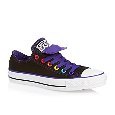Converse Chuck Taylor All Star Double Tongue Ox Womens Canvas Trainers 547215C