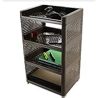 HEET Plastic 4 Layer Book Storage Display Rack Shelf Cabinet Unit Organizer for Living Room, Bed Room, Study Room (Brown…