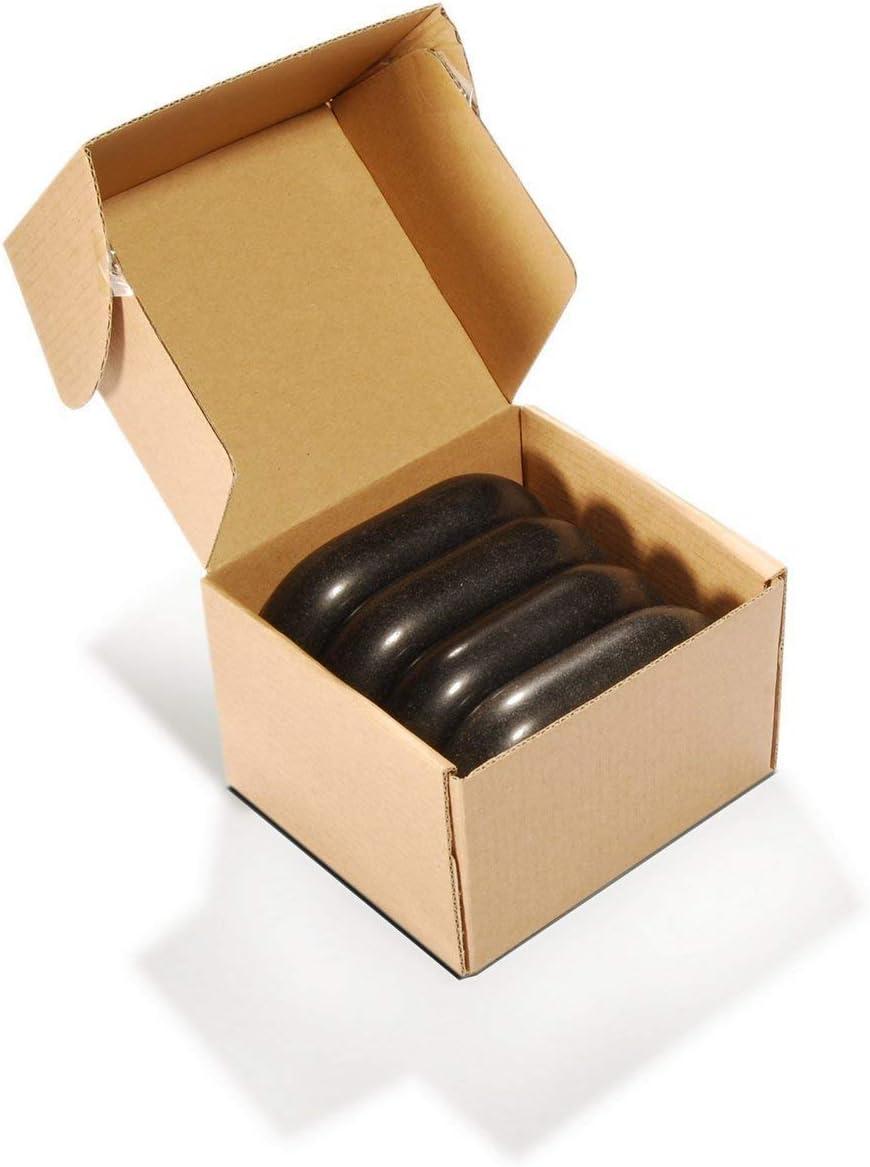 Master Massage - Piedra de basalto ovalada (tamaño XXL, 15 x 8,5 x 2,7 cm)