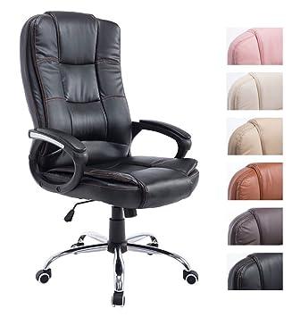 Bürostuhl ergonomisch höhenverstellbar  CLP Chefsessel ENNO, Bürostuhl mit Kunstleder-Bezug, ergonomisch ...