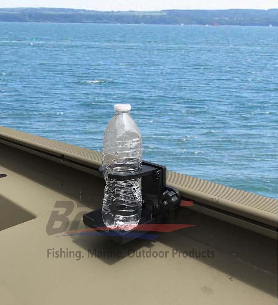 Brocraft Folding Cup Holder for Tracker Boat Versatrack System /90 Degree Lund Sport Track-Black
