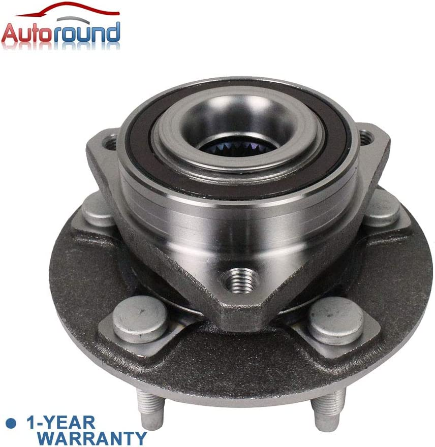 XTS//Chevrolet Impala 18-19 Fit Front//Rear Driver Passenger Side ABS Encoder Autoround 2-Pack Wheel Hub and Bearing Assembly 513282 Compatible with Cadillac CTS 2008-2019 Chevy Camaro 2010-2015