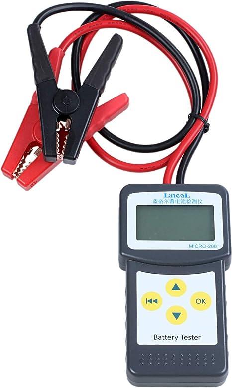 CUHAWUDBA Fischartigdy225 Auto Batterie Tester Analysator 6V//12V Dc Automotive Widerstand Test Auto F/ür Elektrische Batterie Speicher Marine