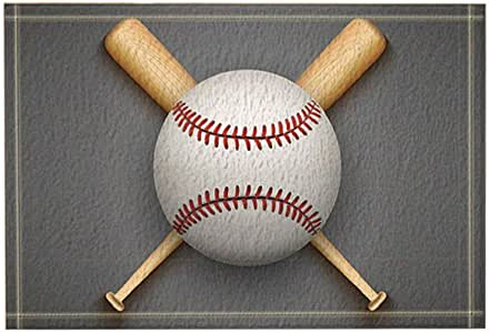 Amazon.com: Sports Decor Baseball Leather Ball and Wooden ...