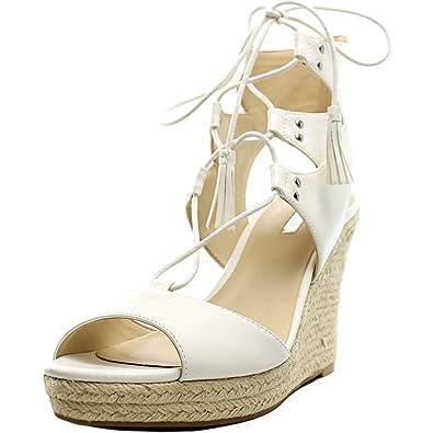 Guess Lamba3 Damen US 9.5 Weiß Keilabsätze Sandale cUe2DwAFc9