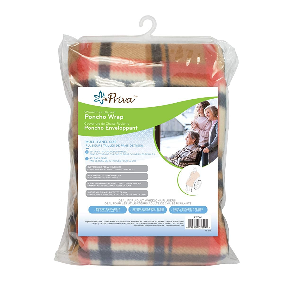 Priva Wheelchair Blanket-Poncho Wrap