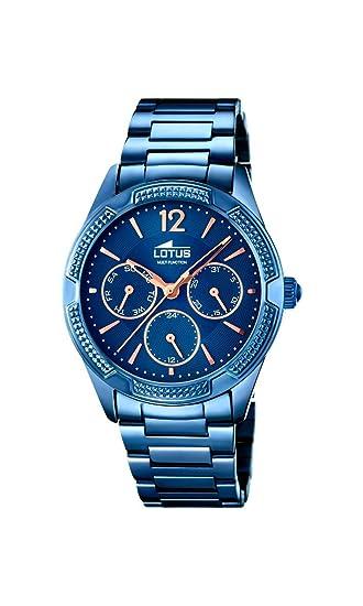 Lotus 18248/2 - Reloj de Pulsera de Cuarzo analógico para Mujer, Acero Inoxidable: Amazon.es: Relojes