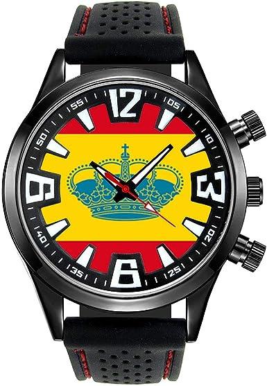Timest - España Bandera de Yates - Reloj para Hombre con Correa de ...