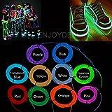 Cacys Store 5M Neon Light Dance Party Decor Light Neon LED lamp Flexible EL Wire Rope Tube Waterproof LED Strip Dance Party + Controller(1 Pcs, Random Colors)