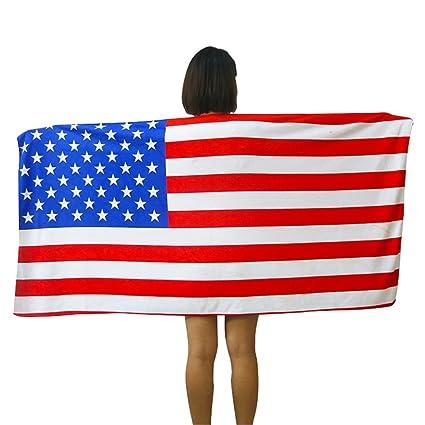 Printed con Euro nosotros bandera británica bandera Canadá toalla/toalla de playa toalla de toallas