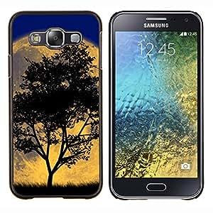 - Retro Tree Moon Night - - Cubierta del caso de impacto con el patr??n Art Designs FOR Samsung Galaxy E5 E500 Queen Pattern