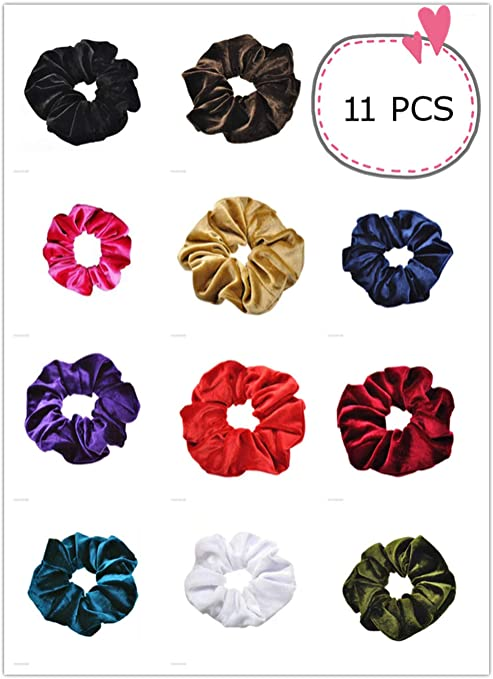 Voberry- 11 piezas de moño de terciopelo para hacer moños, bandas ...