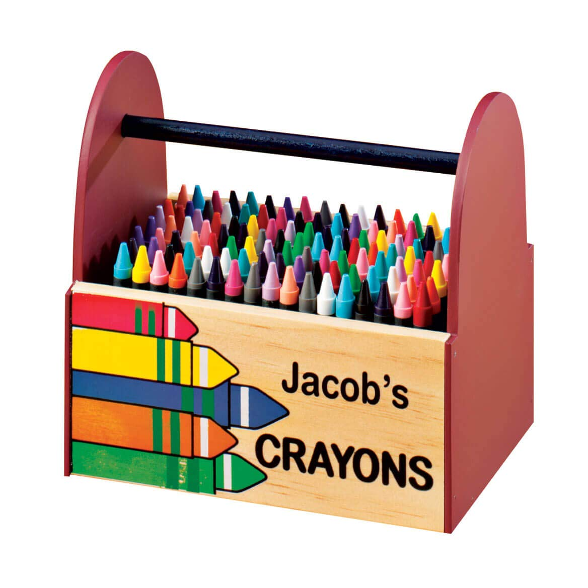 Personalized Wooden Crayon Caddy Miles Kimball