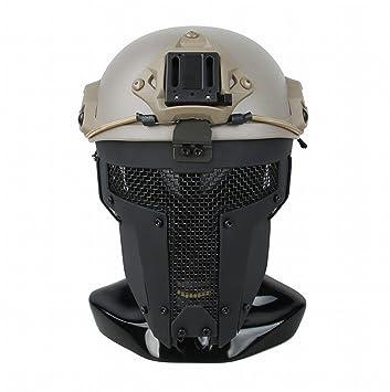 GJJ Máscara Táctica Espartana Máscara de Casco AF Máscara Protectora Táctica Exterior,Do,Un