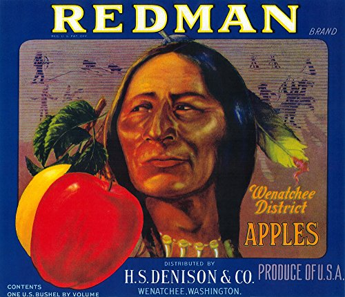 Redman Apple Label (12x18 SIGNED Print Master Art Print w/Certificate of Authenticity - Wall Decor Travel Poster)