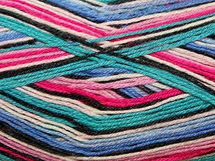 Sirdar Heart y lenguado lana para tejer calcetines 4 capas 165 de giro y mecanismo de