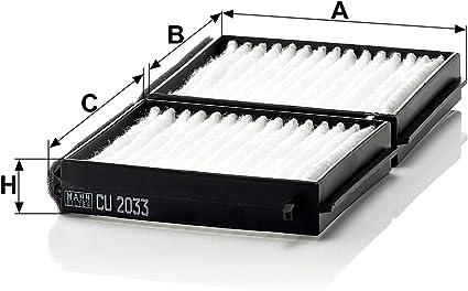 Original Mann Filter Innenraumfilter Cu 2033 2 Kabinenluftfilter Satz 2er Set Für Pkw Auto