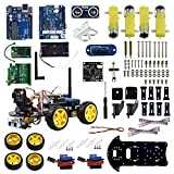 UCTRONICS WIFI Smart Robot Car Kit for Arduino with Real Time Video Camera, Ultrasonic Sensor, Line Tracking, WIFI Module Remote Controlled by Android App