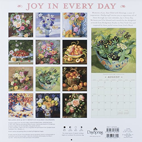 """12"""" x 12"""" 2016 12-Month Wall Calendar, Joy in Every Day (73446) Photo #13"""