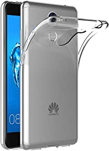 Tektide Case Compatible for Huawei Elate 4G LTE/Huawei Ascend XT2, [Invisible Armor] 0.4 mm Ultra Slim, Transparent Clear Soft Flexible Shock-Absorbing TPU Phone Case Bumper Back Cover Improve Grip