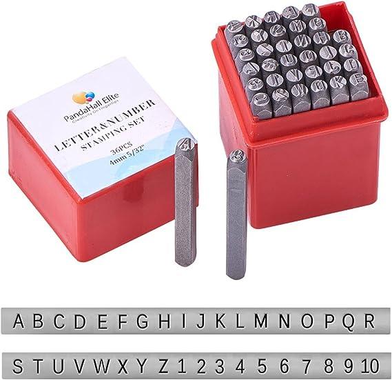 PandaHall Elite 1 Caja Plancha Carta Alfabeto a ~ z y el número 0~9 Sello Sellos, Negro: Amazon.es: Hogar