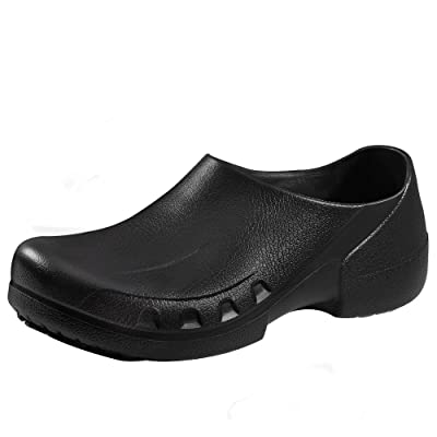 YOWESHOP Slip Resistant Chef Clogs for Kitchen Non Slip Work Mule Shoes for Men Black | Mules & Clogs