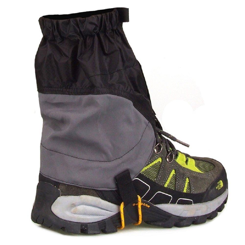 UHNT Outdoor Waterproof Essential Ankle Walking Gaiters (1 Pair) -Black by UHNT (Image #4)