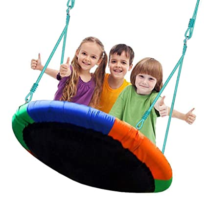 Blue Island Tree Swing Children S Outdoor Large Size 40 Diameter Durable Swing Easy Installation