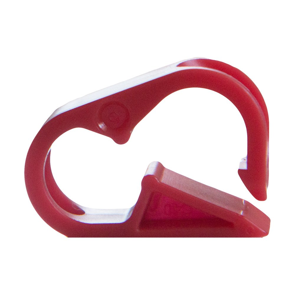 12 Clamps Red Polypropylene Plastic Tubing Clamp for Tubing up to 0.25 OD