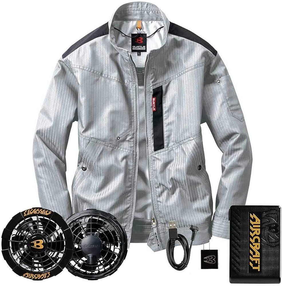 BURTLE(バートル)エアークラフト ブルゾン・黒ファン・12VバッテリーセットAC1051