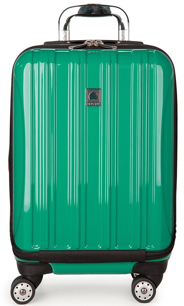 Delsey Luggage Helium Aero Expandable 19 Inch International Carry-On Spinner Suitcase, Emerald Green by DELSEY Paris