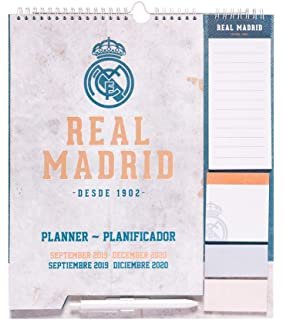 Amazon.com : Real Madrid Monthly Wall Calendar 2019 (January ...